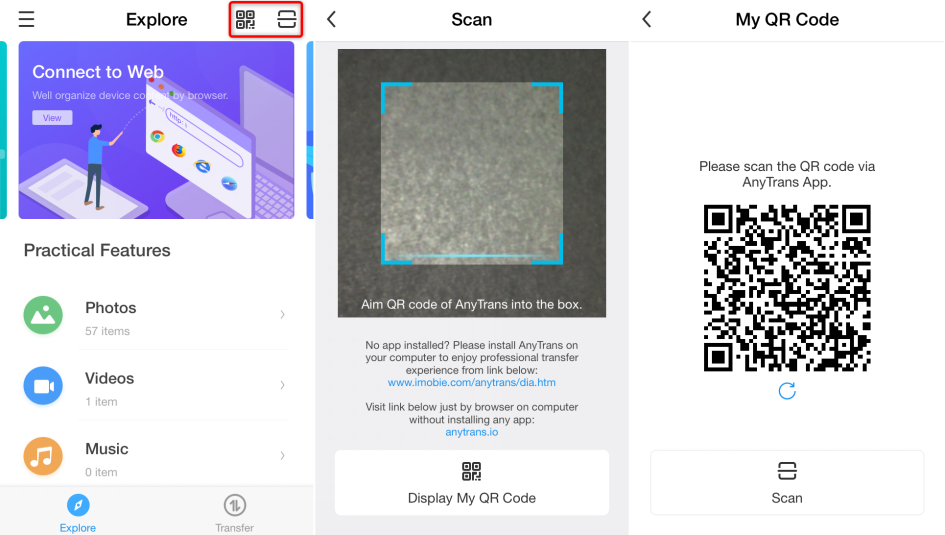 How to Transfer Photos from Android to iPhone without Computer with AnyTrans App - Step 2