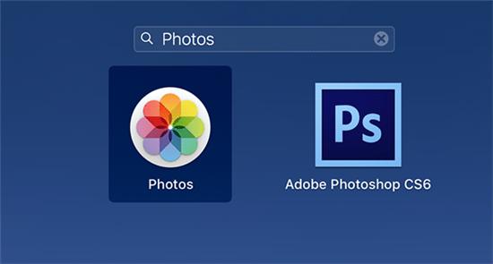 Open the Photos app on Mac