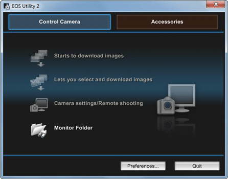 Camera manufacturer utility
