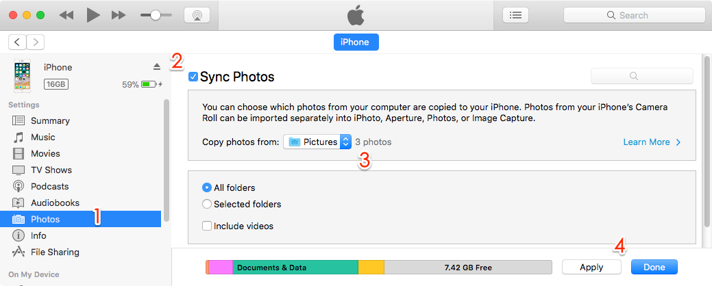 Cant copy photos from iphone 6 to pc