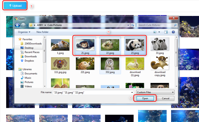How to Transfer Photos from Computer to iPhone 6/6s (Plus) Wirelessly - Step 3
