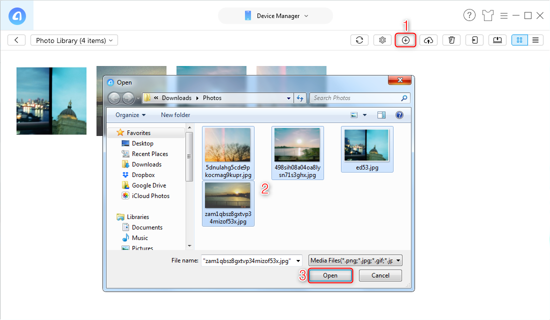 How to Transfer Pictures from HP Laptop to iPhone with AnyTrans - Step 3