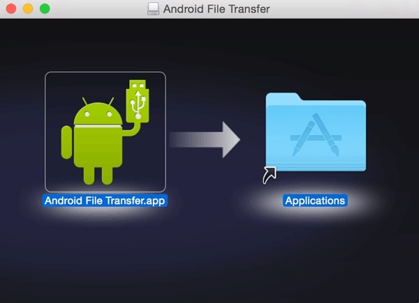 Transfer Photos from Huawei to Mac via Android File Transfer- Step 1