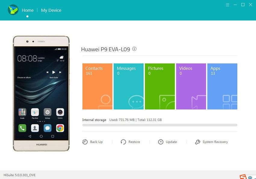Transfer Photos from Huawei to Mac via Huawei HiSuite