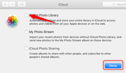 Transfer Photos from iCloud Photo Library to Mac Through iCloud Preference Panel - Step 2