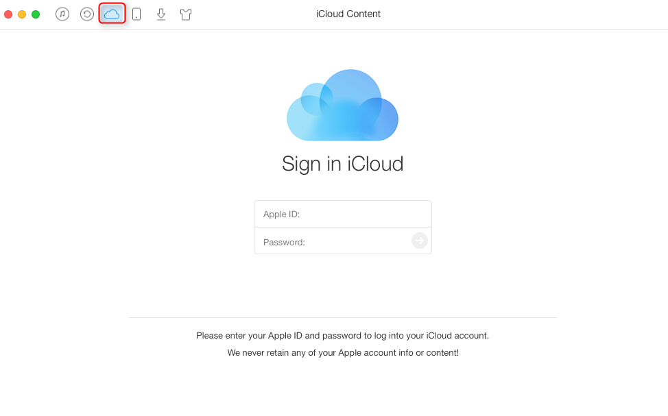 Transfer Photos from iCloud Photo Library to Mac with AnyTrans – Step 1
