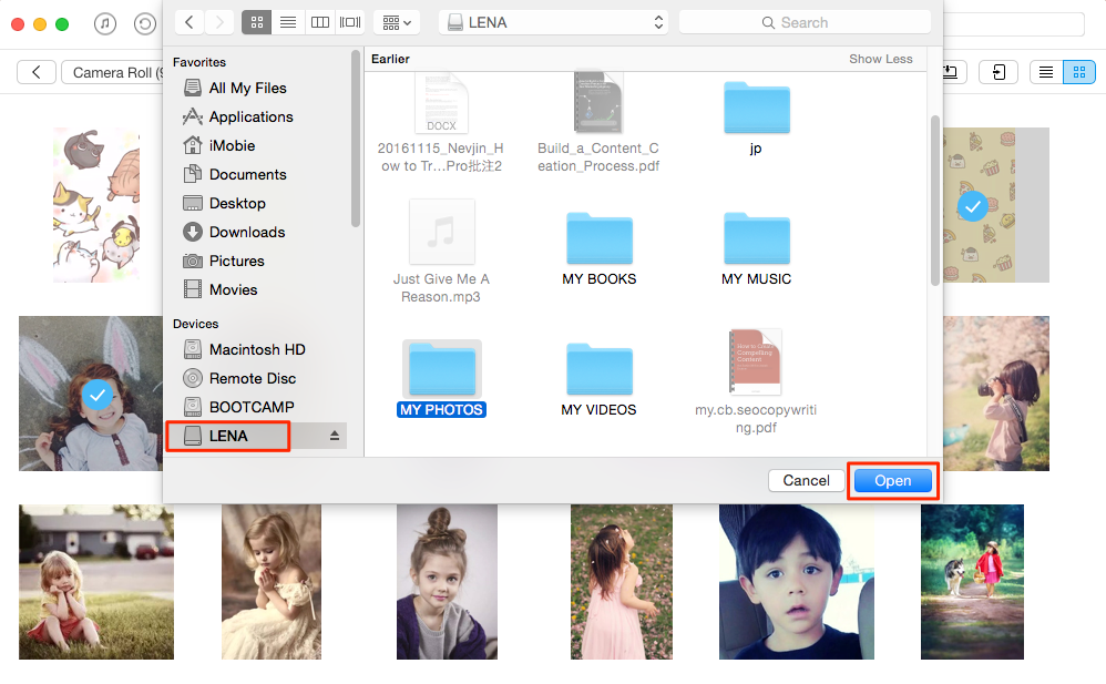 How to Transfer Photos from iPad to External Hard Drive – Step 3