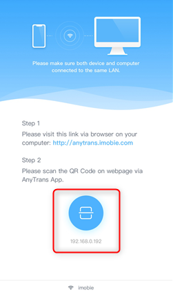 How to Transfer Photos from iPhone 6/6s/7 to Mac Wirelessly - Step 2