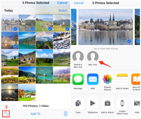 How to Transfer Photos from iPhone 8/X/XS (Max)/XR to Computer via AirDrop