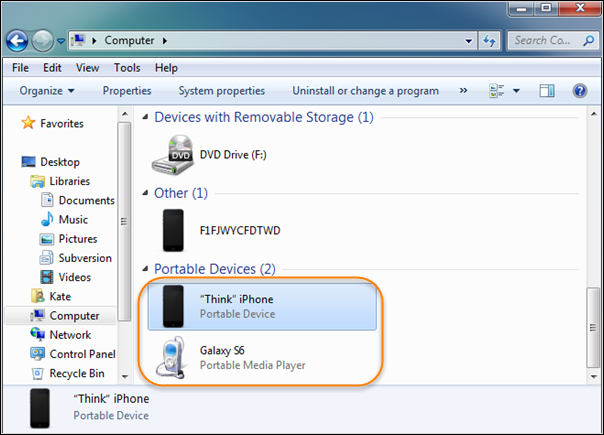 How to Transfer Photos from iPhone to Huawei via Drag & Drop- Step 2