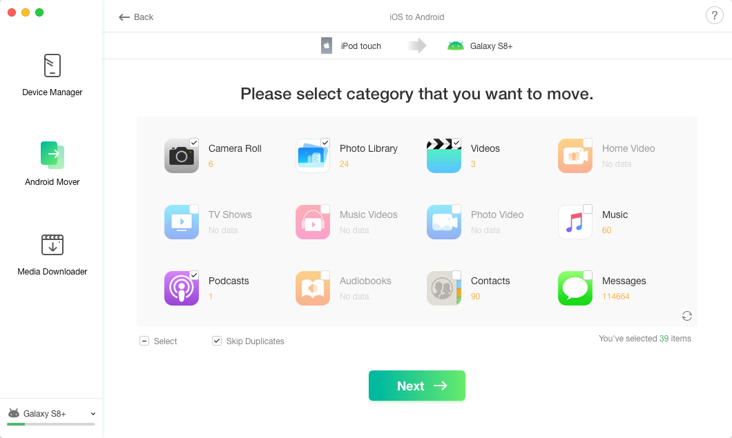How to Transfer Photos from iPhone to Huawei via AnyTrans - Step 3