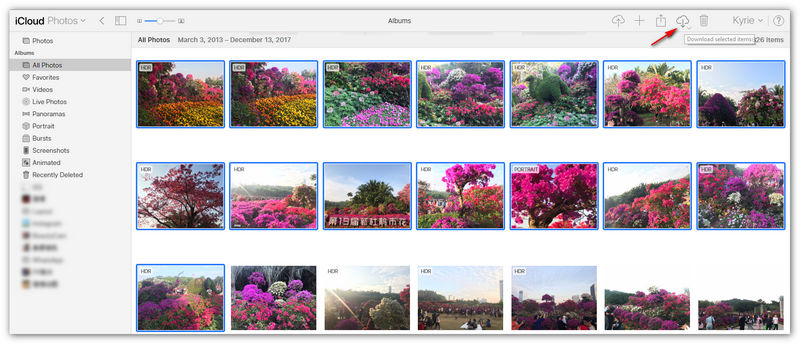 How to Transfer Photos from iPhone to Huawei via iCloud - Step 3