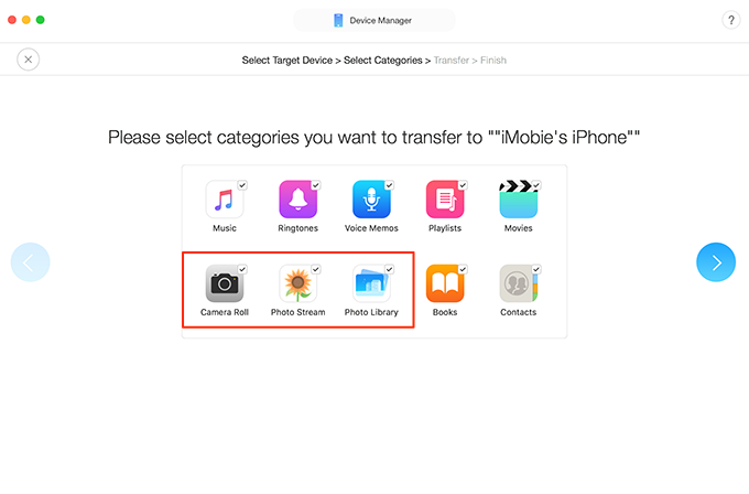 How to Transfer Pictures from iPhone to iPad at Once – Step 2