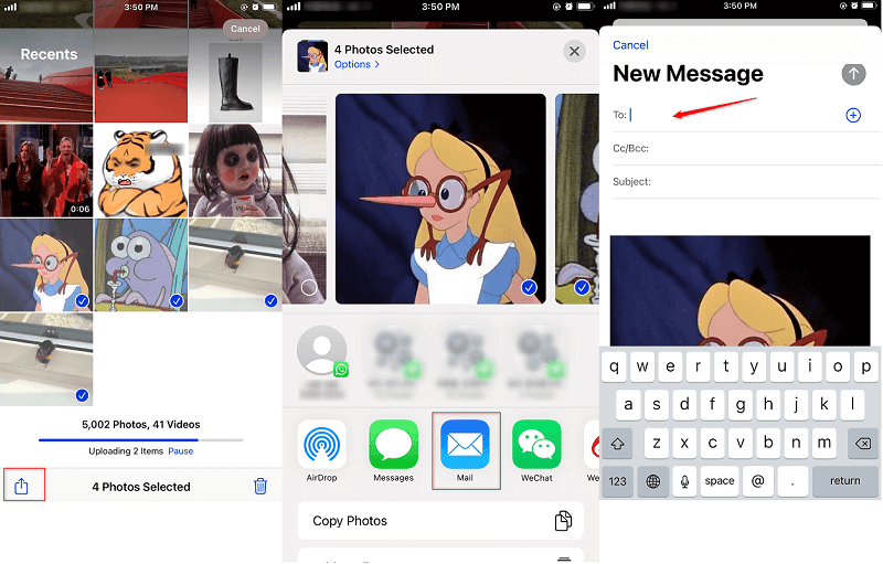 How to Transfer Photos from iPhone to iPhone with Email
