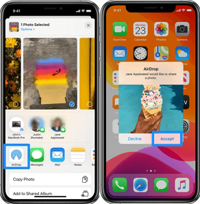 Transfer Photos to iPhone with Airdrop