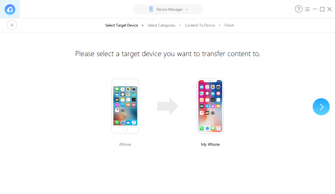 How to Transfer Photos from iPhone to iPhone without iTunes and iCloud – Step 2