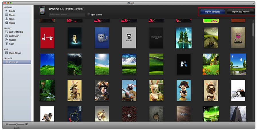 Import Photos from iPhone to iPhoto