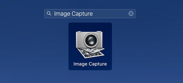 Launch the Image Capture App