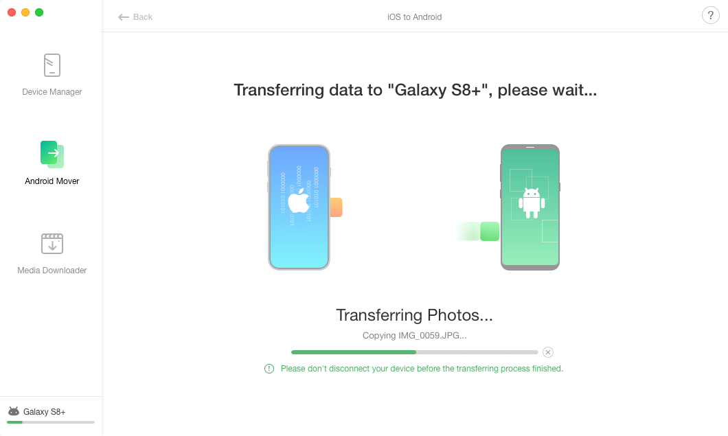How to Transfer Photos from iPhone to Samsung - Step 3