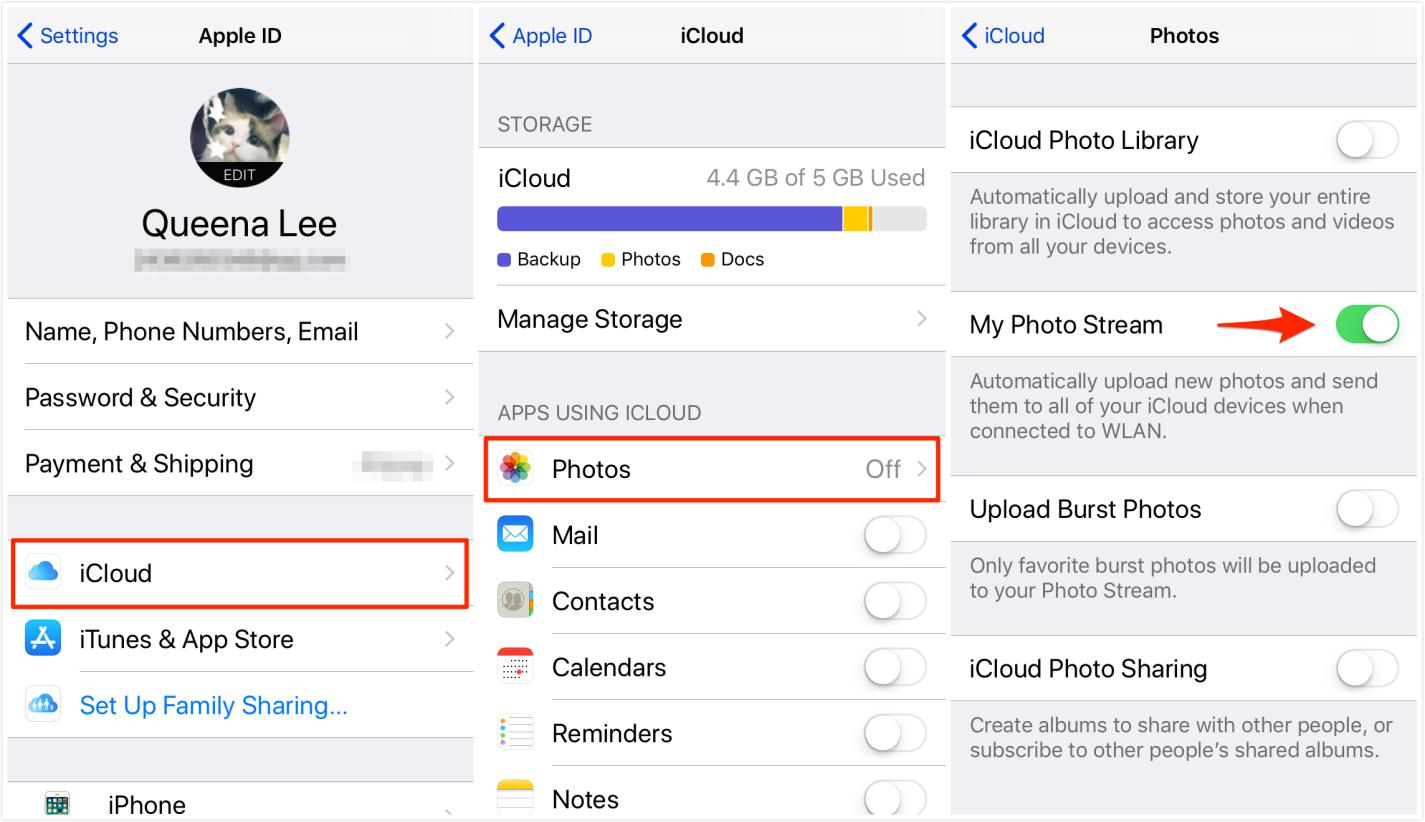 How to Send Photo from iPhone 8/X to iPad