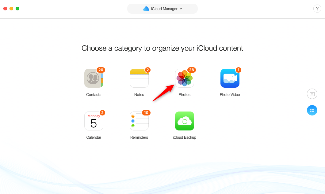 Upload Photos from Mac to iCloud – Step 1