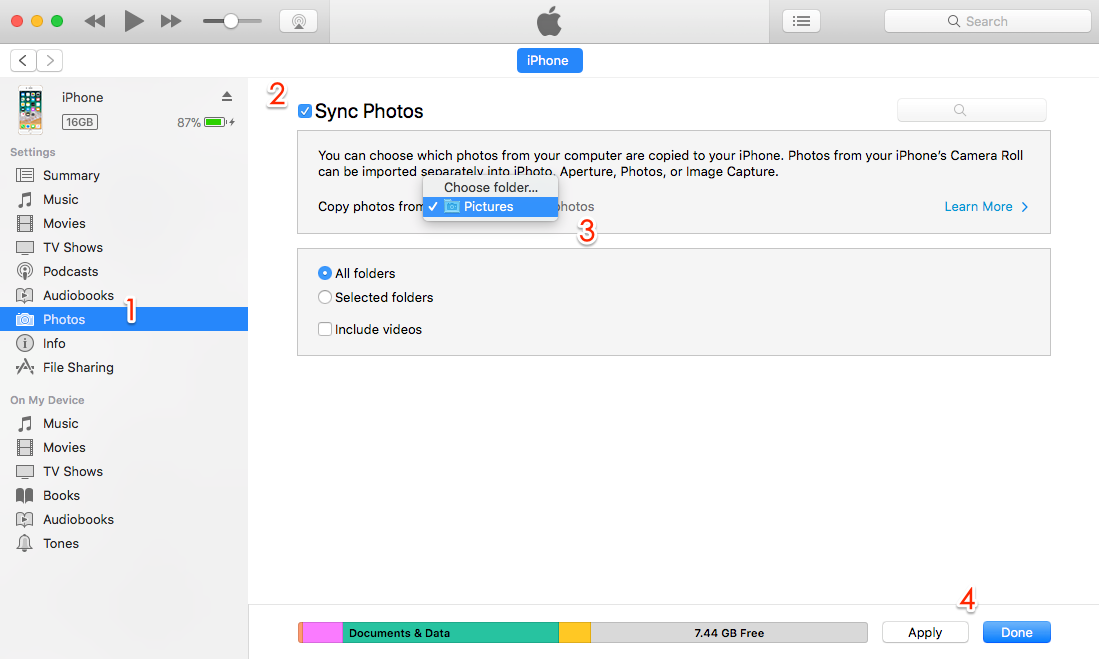 sync notes from mac to iphone 2 ways to transfer photos from mac to iphone 6s se 7 8 x 1762