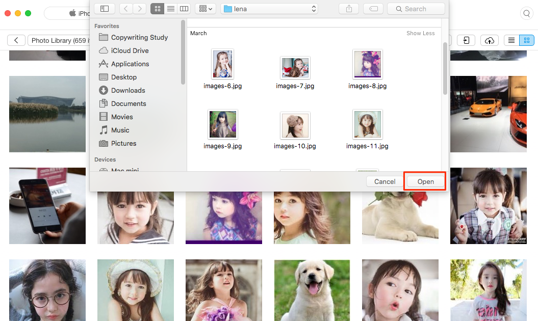 How to Transfer Photos from Mac to iPhone –Step 3