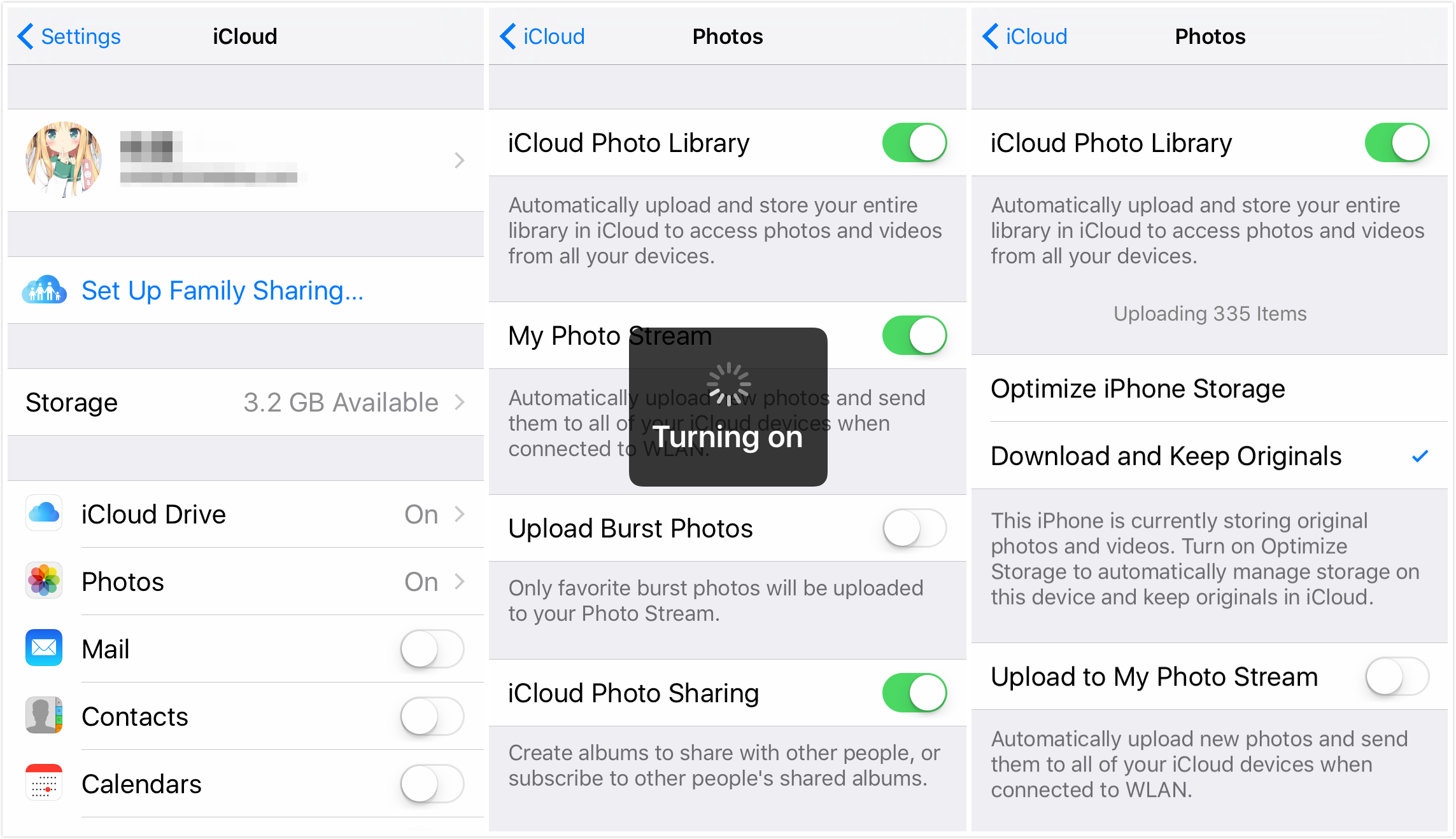 Transfer Photos from iPhone to iPhone 7/7 Plus with iCloud Photo Library