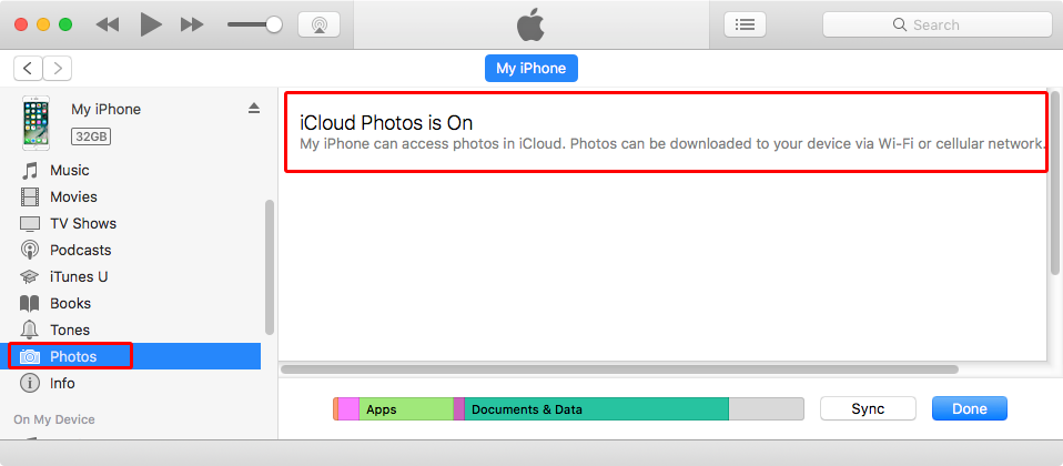 "Fix ""iTunes can't sync photos because iCloud photos on"" Problem"