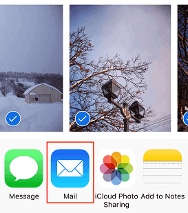 Transfer Photos with Email One by One