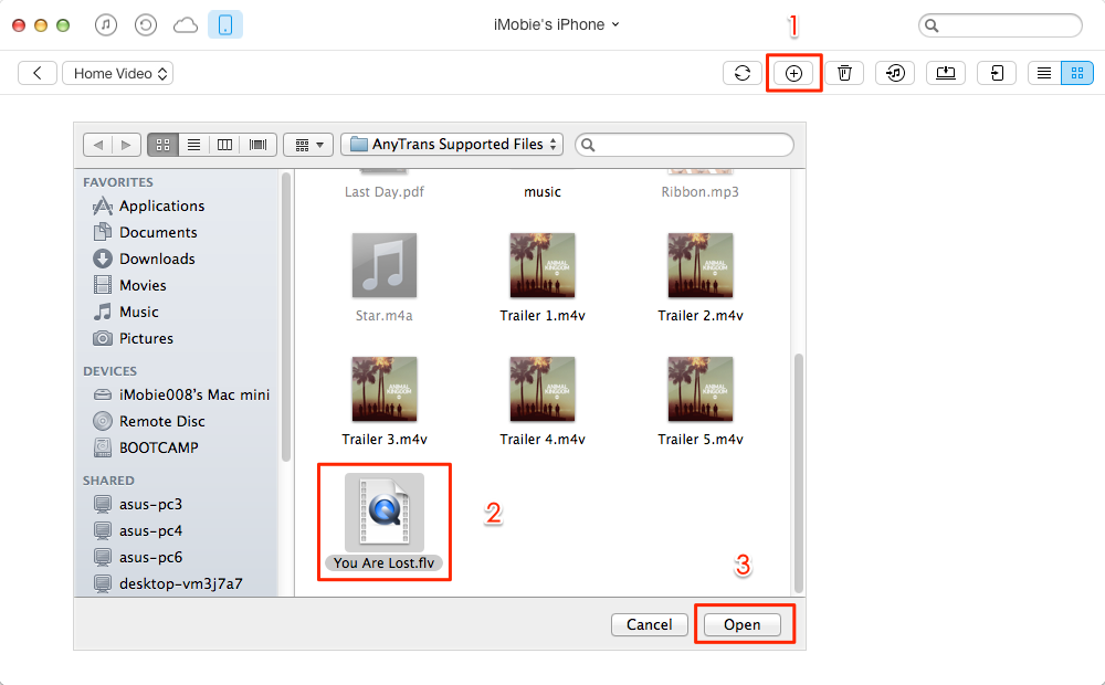 How to Transfer Falsh Videos to iPhone – Step 3