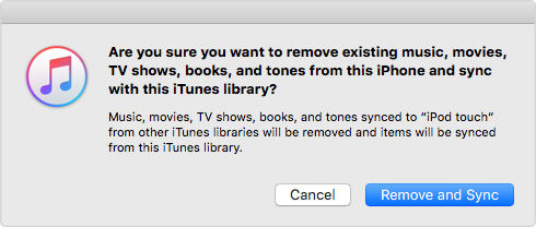 Syncing Playlist to iTunes Will Erase Existing iOS Contents