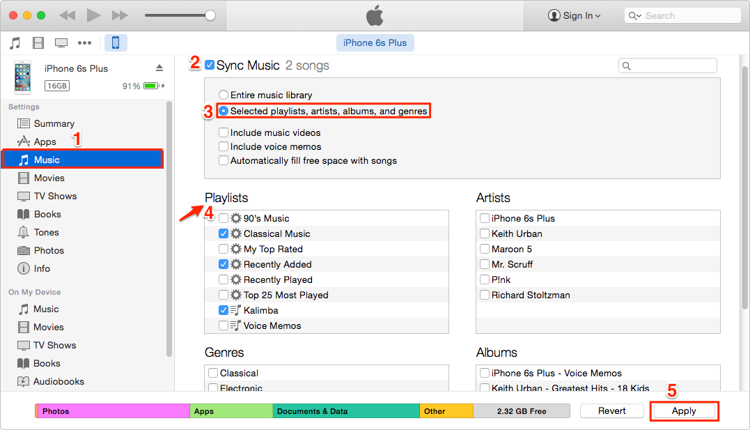How to Move Playlist from iTunes to iPhone – Step 3