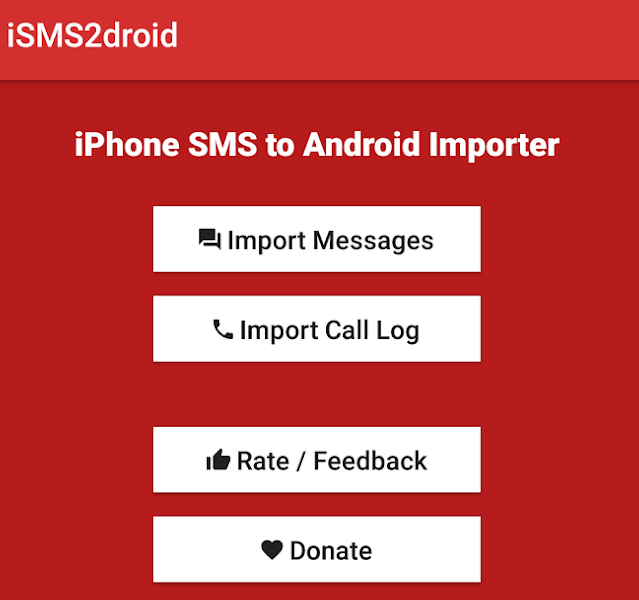 Import iPhone messages on Android