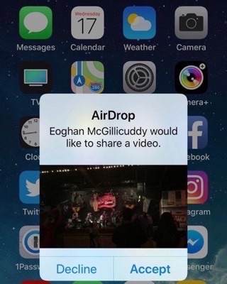 Transfer Video from iPhone to iPad Wirelessly via AirDrop