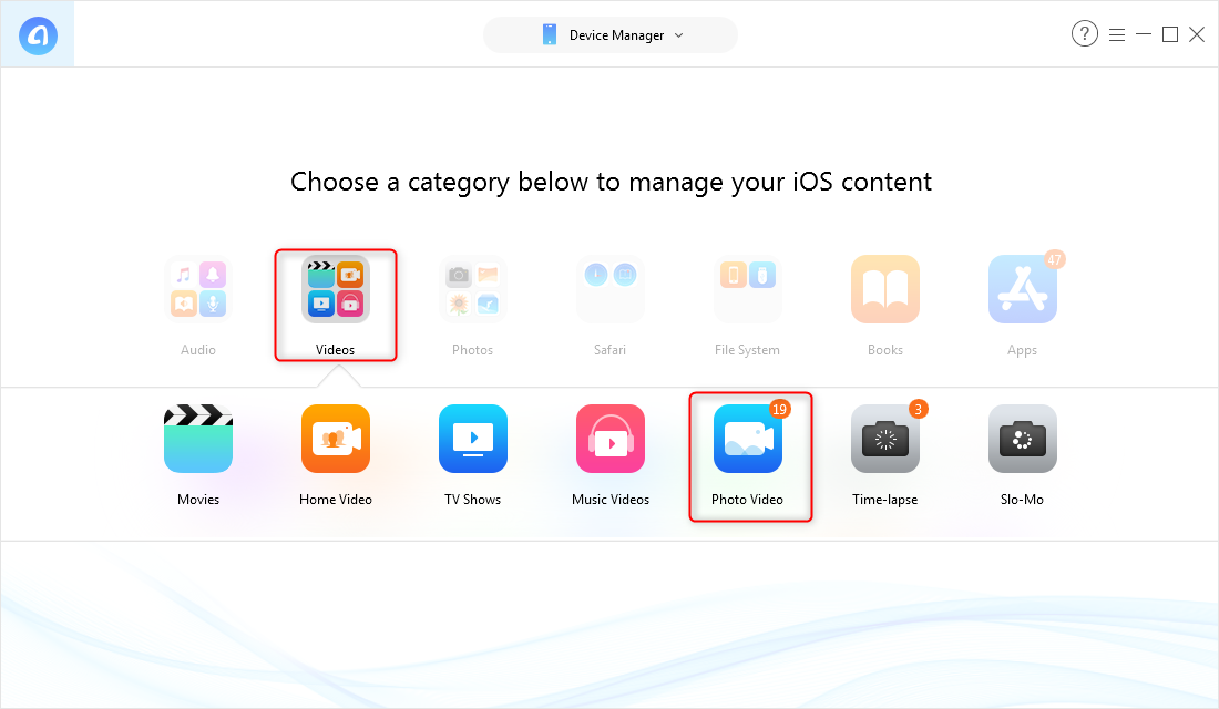 How to Transfer Videos from iPhone to Computer to Laptop - Step 2