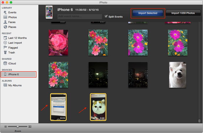 Transfer Videos from iPhone 6/6s to Computer with iPhoto