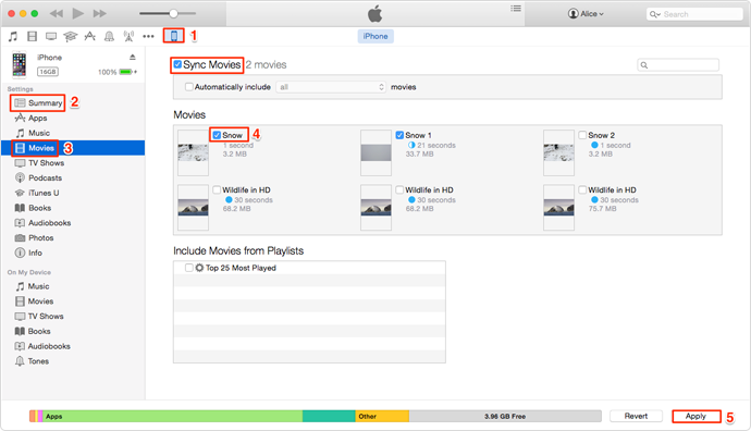 How to Transfer Videos from iTunes to iPhone