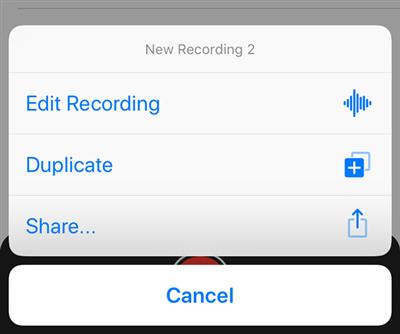 Share Voice Memos via AirDrop
