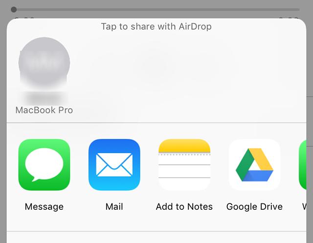 Transfer Voice Memos via AirDrop