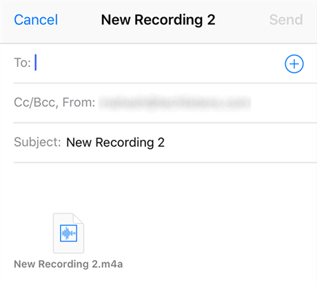 Send Voice Memos via Email