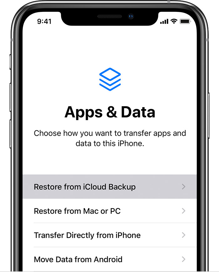 Transfer WhatsApp from iPhone to iPhone via iCloud Backup - Step 3