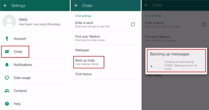 Transfer WhatsApp Messages from Android Phone to New iPhone X/XS (Max)/XR - Step 1