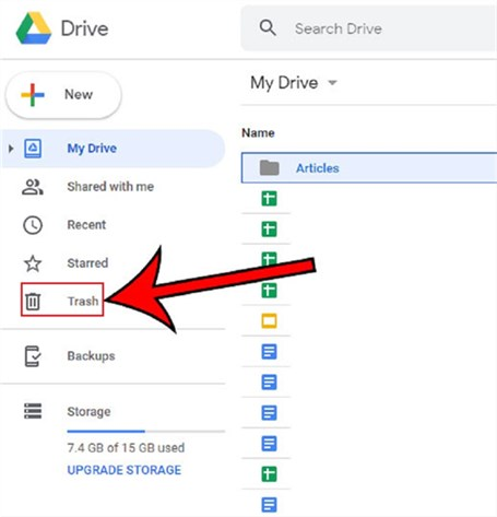 Recover Deleted Files from Google Drive Trash