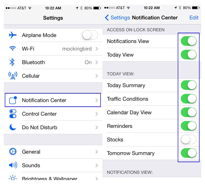notification center iphone tricks about ios notification center settings 12723
