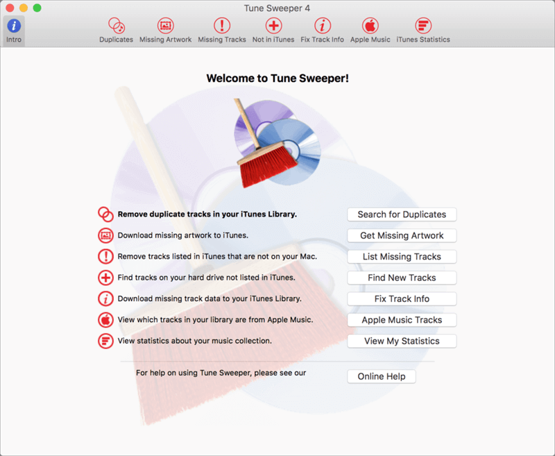 iTunes Repair Software - Wide Angle's Tune Sweeper