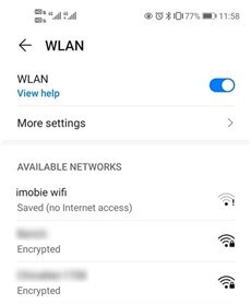 Turn off and Restart Wi-Fi Connection