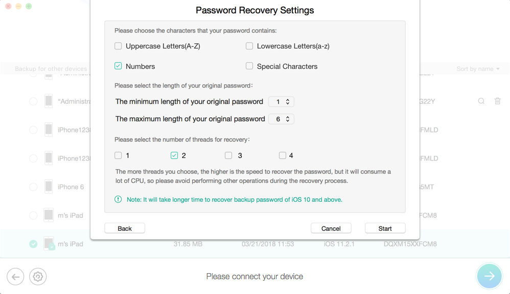 How to Turn Off iTunes Backup Encryption Without the Password – Step 2