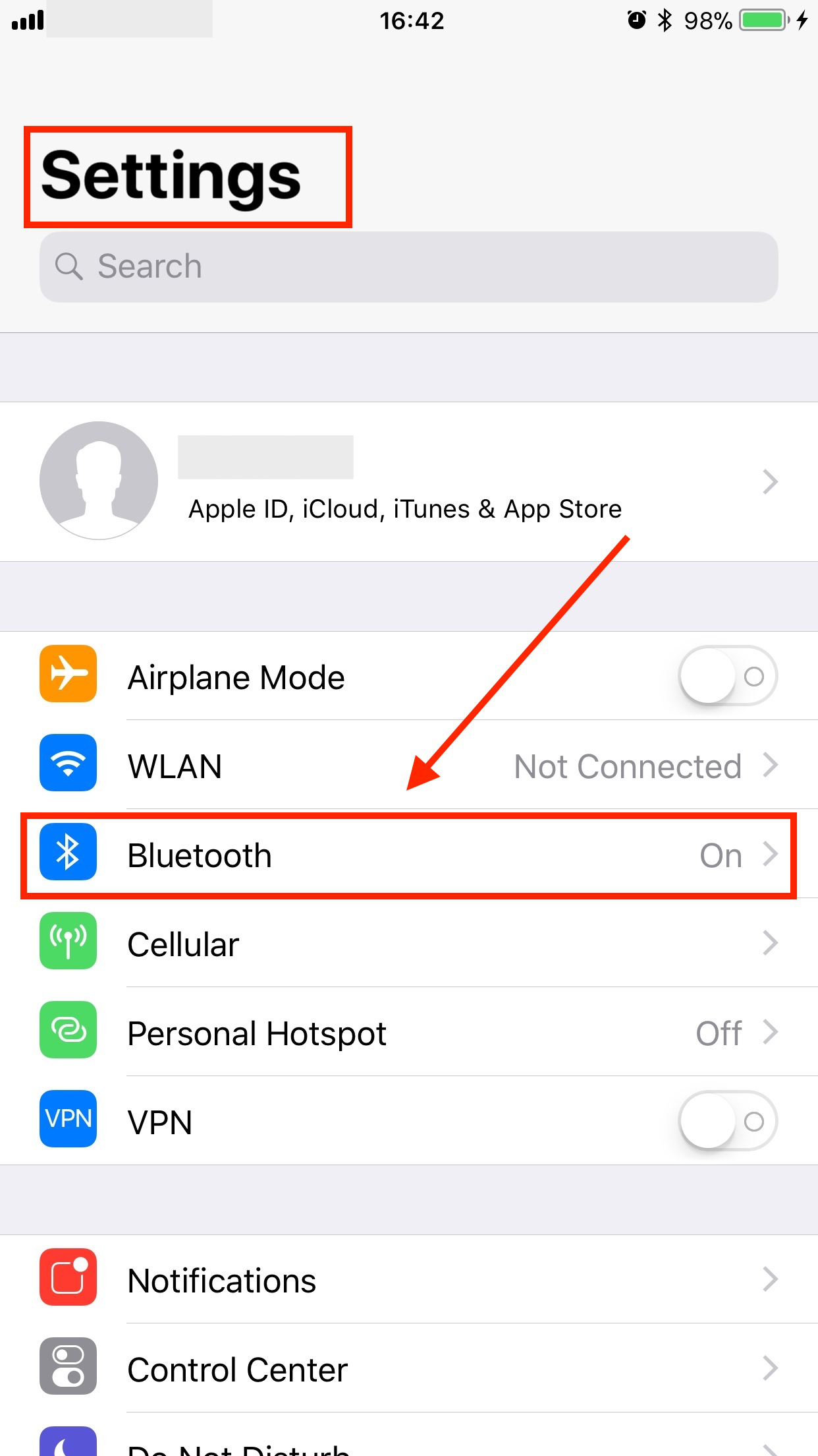 Fix Bluetooth Icon Always on and Turning on By Itself - Step 1