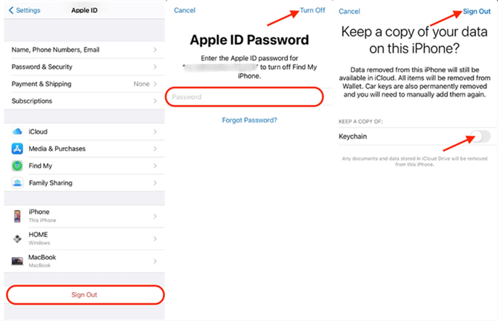 Sign out of iCloud on Your iPhone